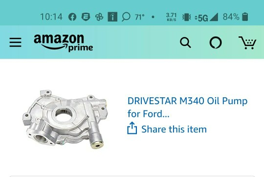 timing chain kit and oil pump